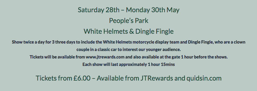 People's Park White Helmets & Dingle Fingle